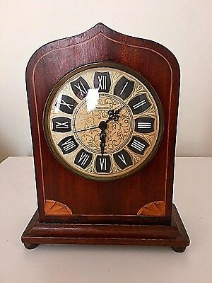 Vintage Wooded Quartz Carriage Clock - Mercedes Made in Germany