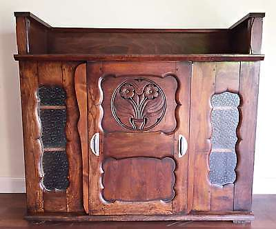 Antique French Art Deco Style Chestnut Sideboard Cabinet Counter - OK102