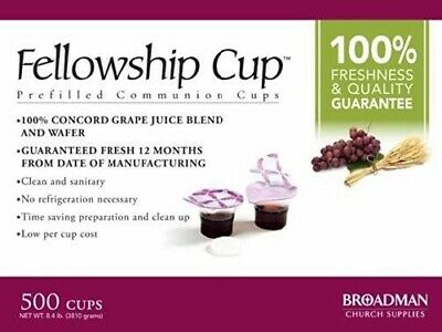 Fellowship Cup Box of 500 - Pre-filled Communion Bread & Cup