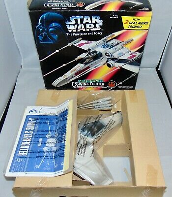 1995 Kenner Star Wars Power Of The Force Electronic X-Wing Fighter Vehicle