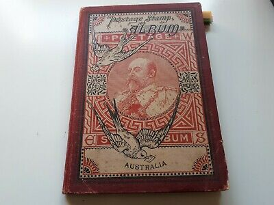Old Schaubeks Postage Stamp Album : World Collection -660 Used Stamps.