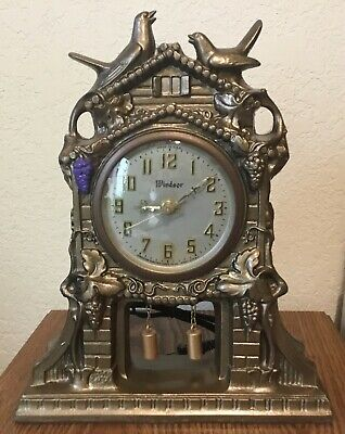 Gibraltar Windsor Metal Mantel Cuckoo Clock - Model 240