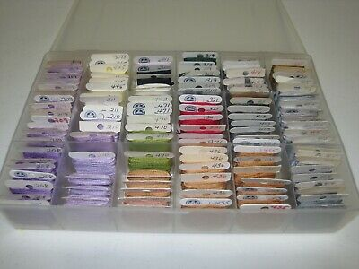 Organizer with 119 Hand Embroidery & Cross Stitch Floss Cards