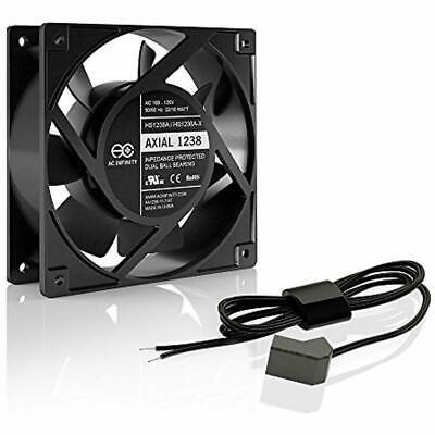 AXIAL LS1238 Quiet Muffin Fan 120V AC 120Mm X 38Mm Low Speed For DIY Cooling Ven