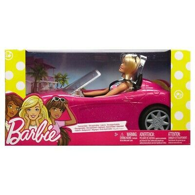 Barbie Convertible Car And Barbie Doll Set Brand New