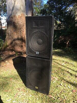 "Pair Of 15"" Etone PA Speakers"
