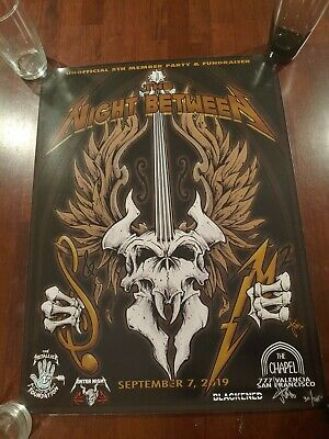 METALLICA San Francisco S&M2 Night Between Fan Club Poster Squindo Signed numbed