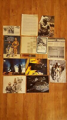 Vintage Star Wars LOT of 13 Misc. Literature Items. 1978-1982. USED.