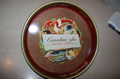 """CANADIAN ACE BEER AND ALE Advertising Metal BEER TRAY 13"""""""