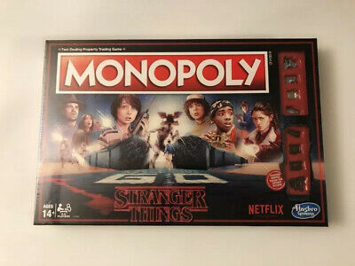 Monopoly:  Hasbro Stranger Things Edition Netflix 80s Board Game New Sealed