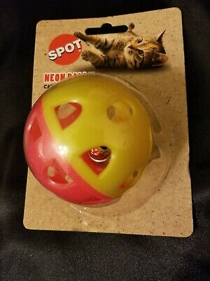Spot Neon Ball  with Bell Cat Toy