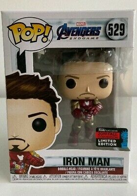 Funko Pop IRON MAN GAUNTLET Avengers Endgame NYCC 2019 SHARED Exclusive #529