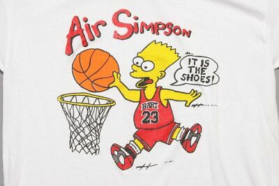 New Air Simpson L T-Shirt Michael Jordan Bootleg Bart Simpsons Basketball DD900
