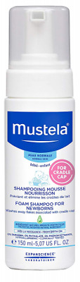 Mustela Foam Shampoo for Newborns, Baby, Helps Prevent and Reduce Cradle Cap, wi