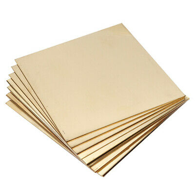 H62 Brass Metal Thin Sheet Foil Plate Shim Metalworking Thickness 0.8mm/1mm/4mm