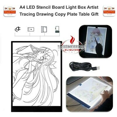 A4 Ultra Slim LED Drawing Board Art Craft Copy Tracing Light Box Pad Board gift