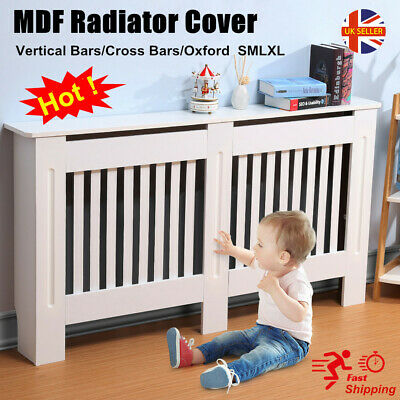Radiator Cover Cabinet Modern Floor Standing MDF Heating Cover Wall Shelf SMLXL