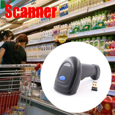 2019 2.4G Wireless Bluetooth Laser USB Barcode Scanner Reader For POS Inventory