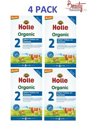4 BOXES Holle Stage 2 Organic Formula ,600g, 11/2020 FREE EXPEDITED SHIPPING