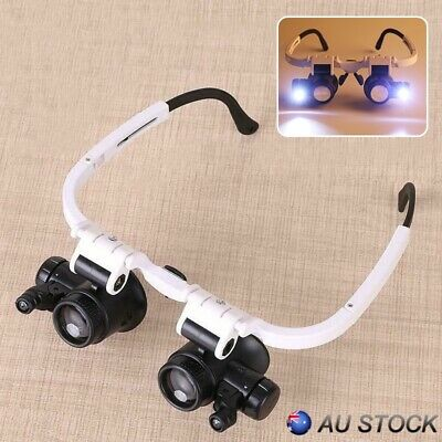 Helmet-mounted Magnifier With Lamp Spectacle Type Magnifier Maintenance Tools AU