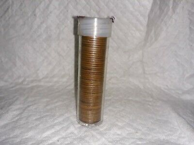 1 Roll (50) 1944 Lincoln Wheat Penny  * Us Cent Copper Penny No Mint Mark