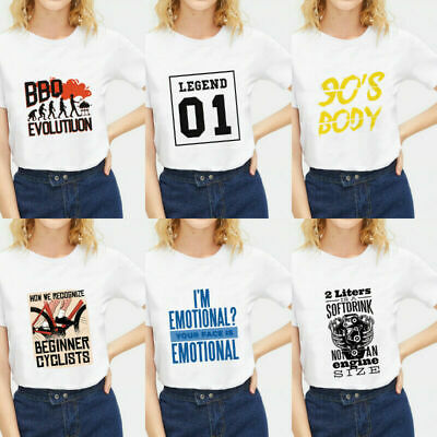 Women Men Fashion Letter White Plain T-shirt Tops Blouse Short Sleeves Basic Tee
