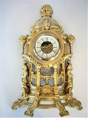 Beautiful Spring Driven Mantle Clock...good Working Order