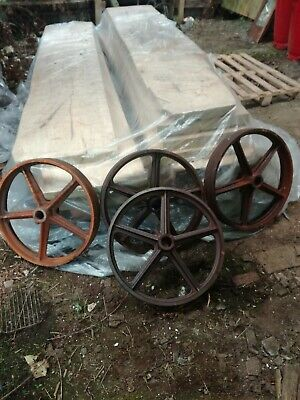 4 cast iron wheels