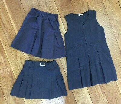 Girl School Clothes Bundle 7 Years Grey Pinafore Dress Skirt Uniform M&S Winter