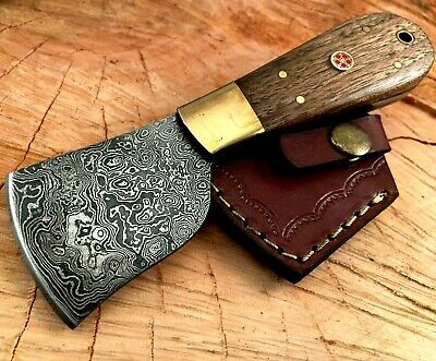 Handmade Damascus Steel Saddlers-Leather Cutter-Edge Skiving Tool-QD32