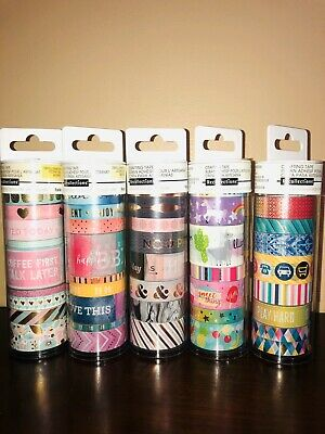 New Recollections Planner Washi Tape Tube lot of 5