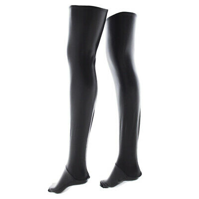 Sexy Wet Look Faux Leather PVC Stockings & Leggings Ups Hold Fetish Y5M4