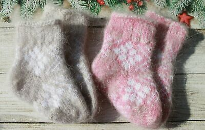 2 pairs NEW  Baby Girls Boys Winter Socks  Goat down