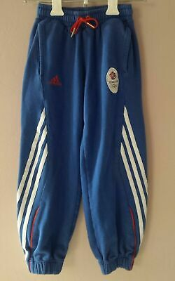 ADIDAS Team GB Girls Kids Childrens Sweat Pants Tracksuit Trousers Blue uk 6-7 Y