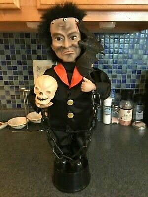 HTF Rennoc Halloween Animated Motionette Frankenstein Telco Like Lighted Decor