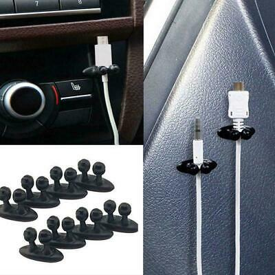 8Pcs Headphone/USB Cable Clips Cord Car Charger Line Holder Interior-Wire-F U6X3