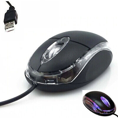 45Wired Usb Optical Mouse For Pc Laptop Computer Scroll Wheel - Black Uk