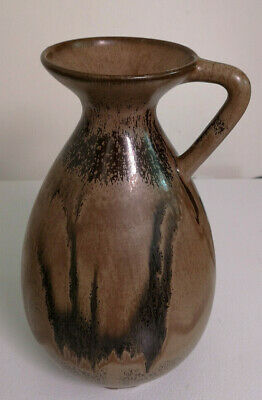 "RARE Blue Mountain Pottery MOCHA Glaze 11"" Tall Vase/Ewer. REDUCED $$$. MINT."