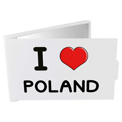 'I Love Poland' Compact / Travel / Pocket Makeup Mirror (CM00000310)