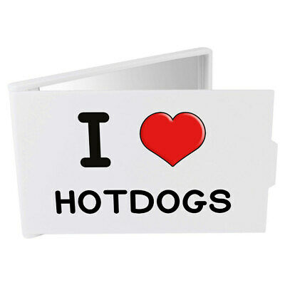 'I Love Hotdogs' Compact / Travel / Pocket Makeup Mirror (CM00000297)