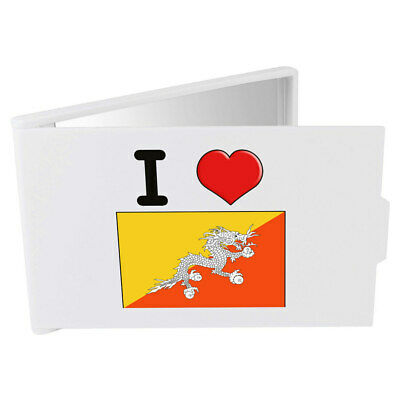'I Love Bhutan' Compact / Travel / Pocket Makeup Mirror (CM00000157)