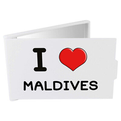 'I Love Maldives' Compact / Travel / Pocket Makeup Mirror (CM00000106)