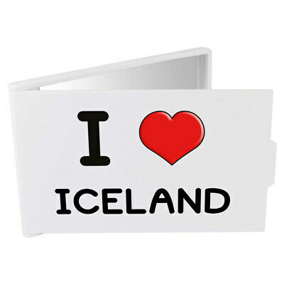 'I Love Iceland' Compact / Travel / Pocket Makeup Mirror (CM00000215)