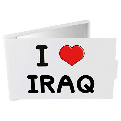 'I Love Iraq' Compact / Travel / Pocket Makeup Mirror (CM00000217)