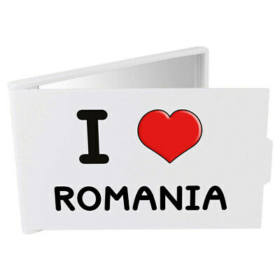 'I Love Romania' Compact / Travel / Pocket Makeup Mirror (CM00000227)
