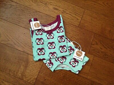 Maxomorra Tank Top/Vest & Hipster Briefs in Purple Pansy - 98/104cm (3-4yrs)
