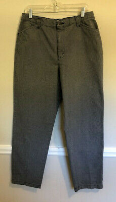 Riders Women's Casuals Gray Mini Houndstooth 100% Cotton Pants Size 14 M