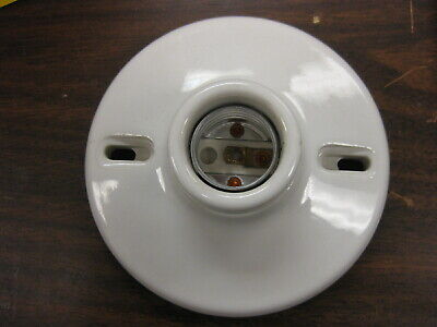 Antique Vintage Ceramic Porcelain Light Socket  250V KNOX 1634