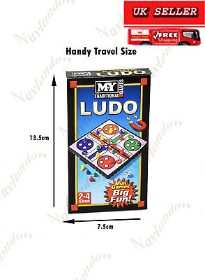 Traditional 2 in 1 Board Game Set - Snakes & Ladders and Ludo Folding Board 9727