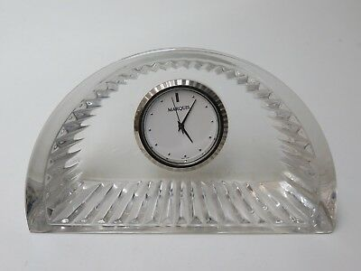 Waterford Crystal Crescent Marquis Desk Clock Germany